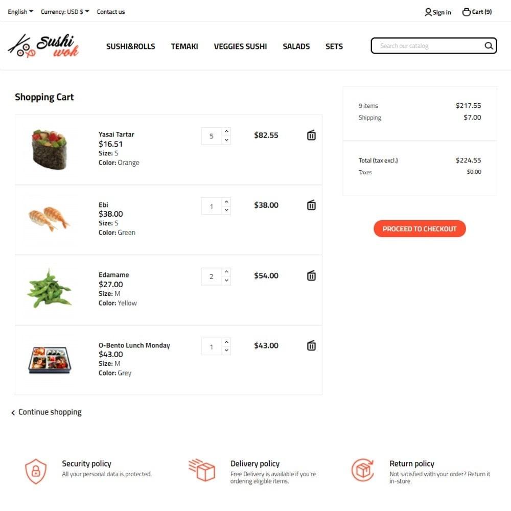 theme - Alimentos & Restaurantes - Sushi Wok - 7