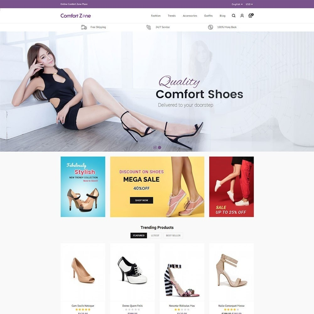 theme - Мода и обувь - Comfort Zone Shoes Store - 2