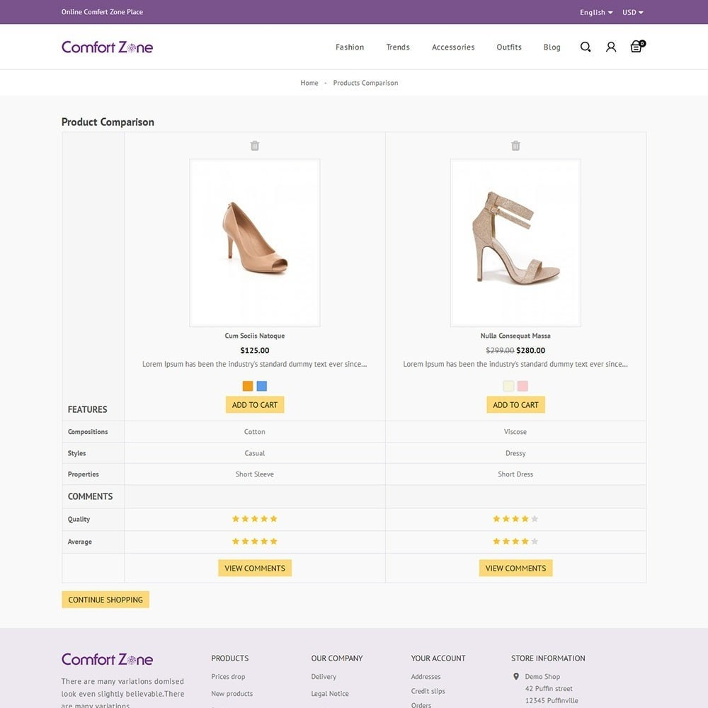 theme - Мода и обувь - Comfort Zone Shoes Store - 7