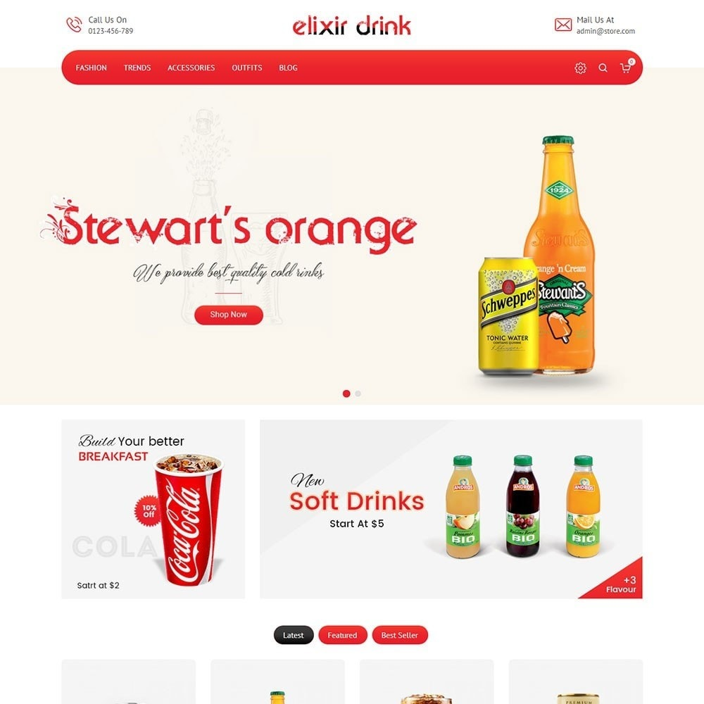 theme - Boissons & Tabac - Elixir Drink Store - 2