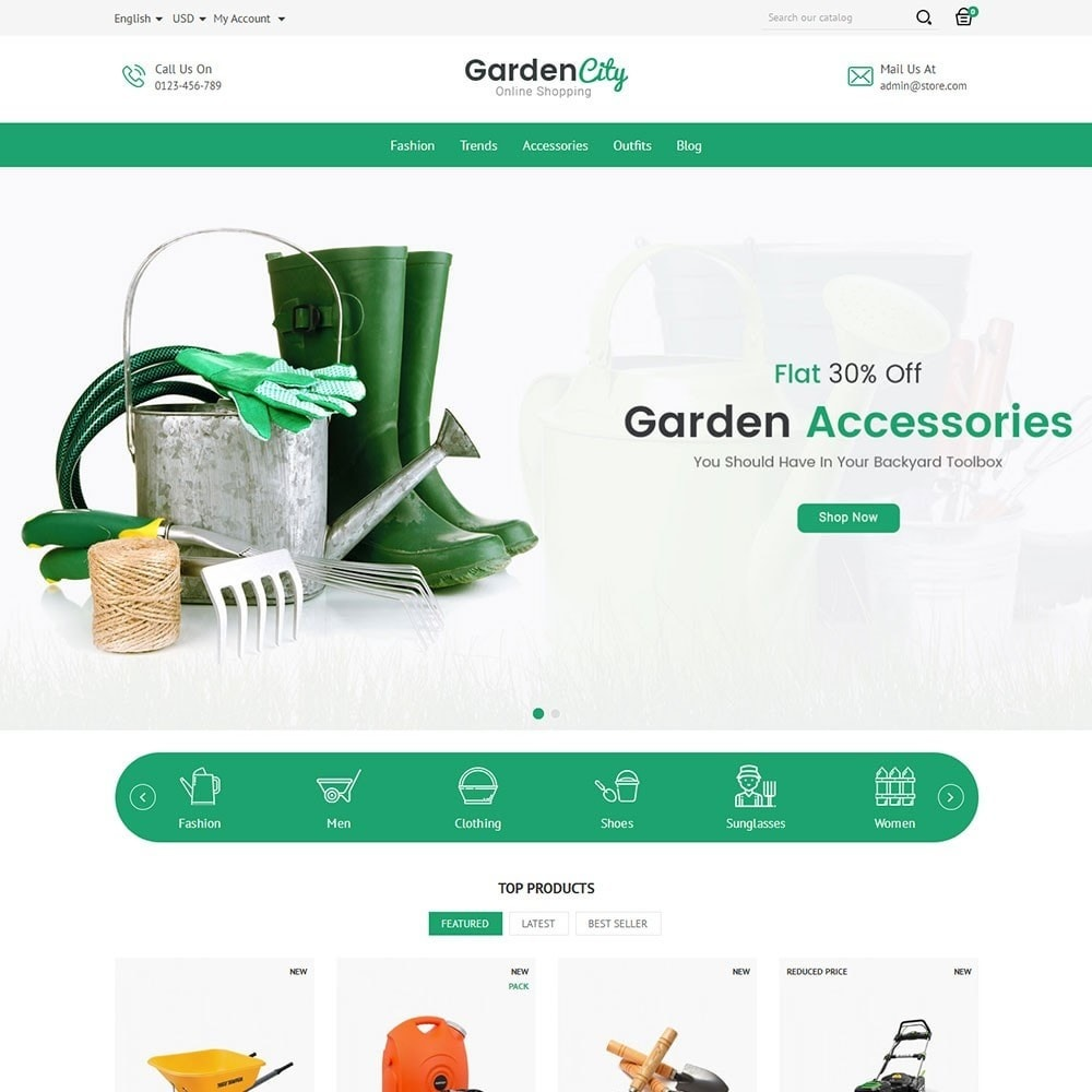 theme - Home & Garden - Garden City Store - 2