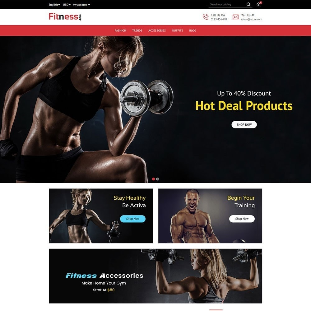 theme - Sports, Activities & Travel - Fitness Store - 2