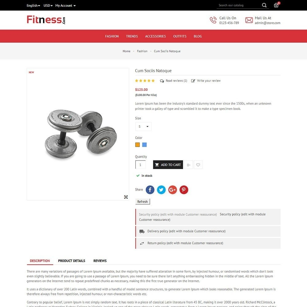 theme - Sport, Loisirs & Voyage - Fitness Store - 5
