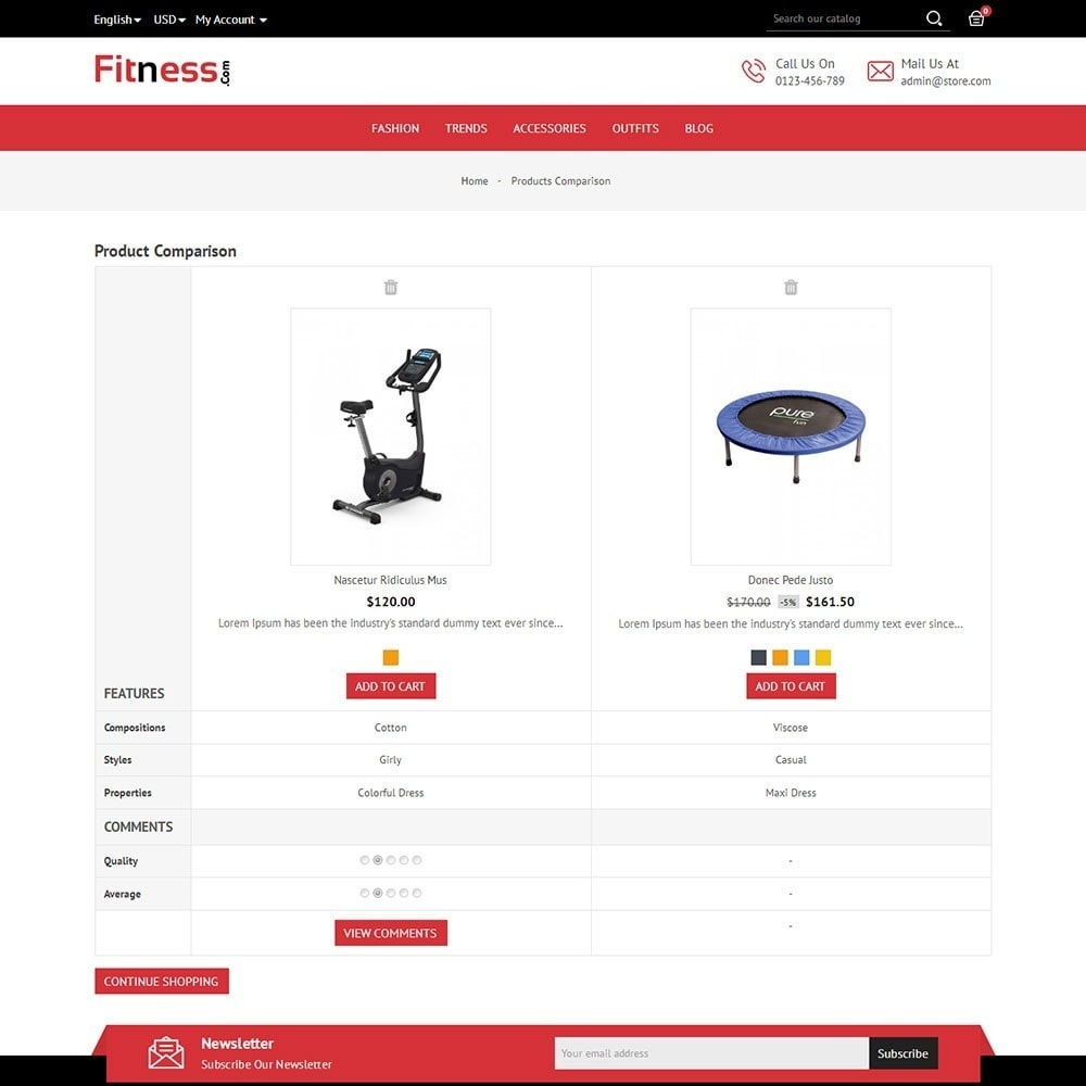 theme - Sport, Loisirs & Voyage - Fitness Store - 7