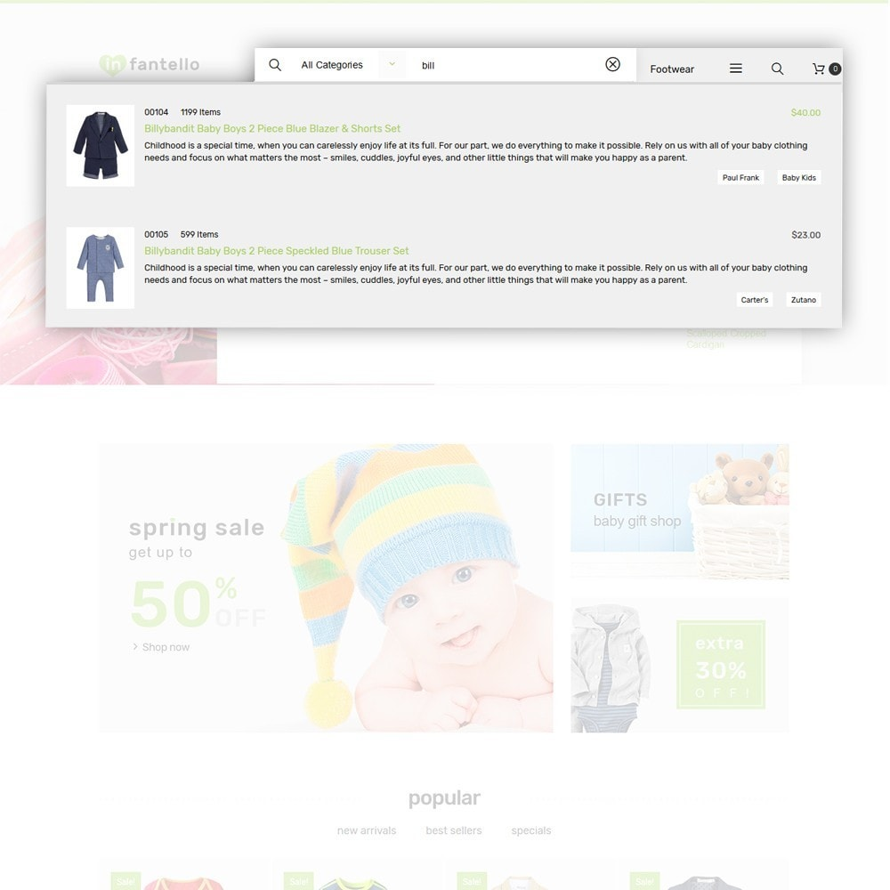 theme - Home & Garden - Infantello - Infant Clothing Store - 5