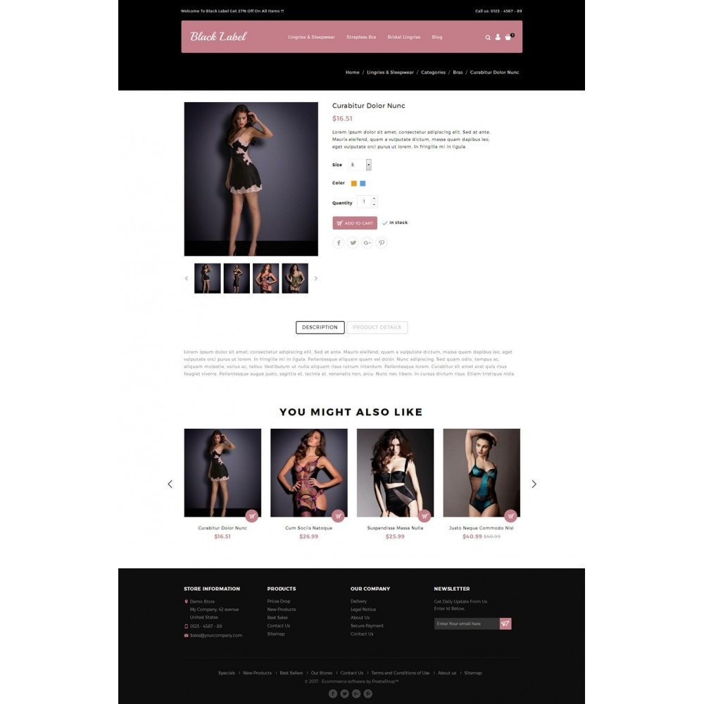 theme - Lingerie & Adultos - Black Label - Lingories Store - 4