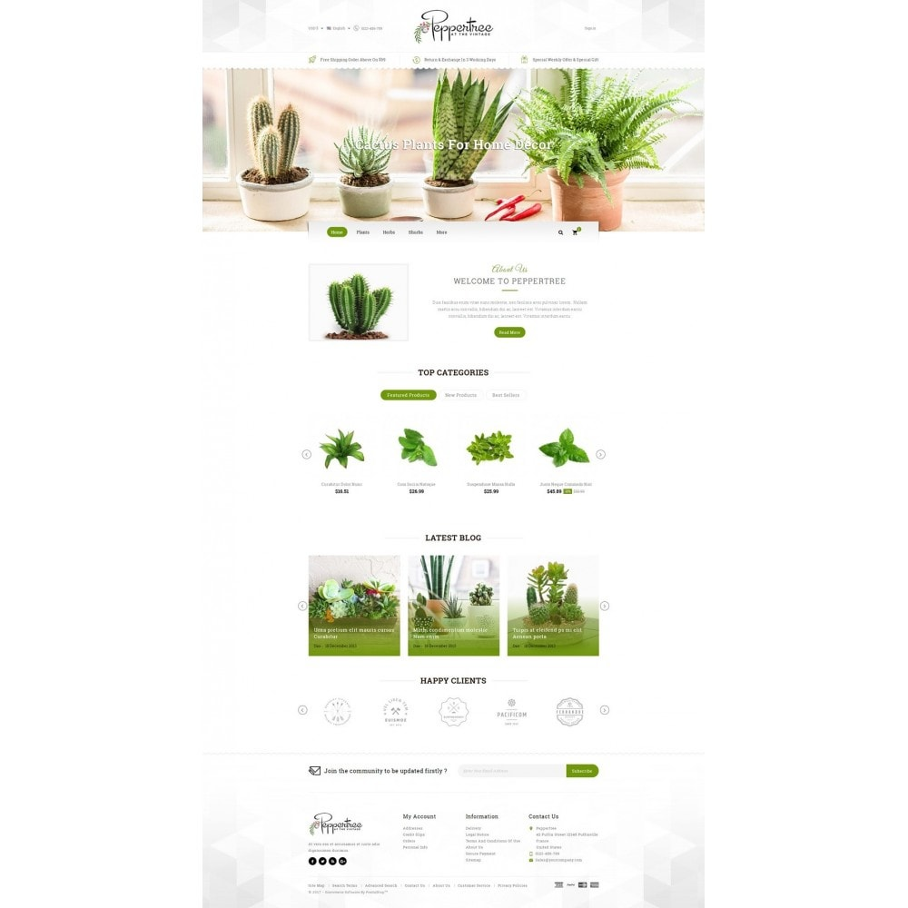 theme - Home & Garden - Peppertree - Garden Plants Store - 2