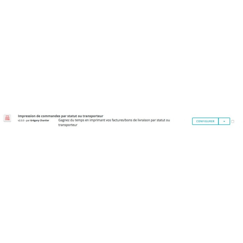 module - Préparation & Expédition - Impression de commandes par statut et transporteur - 3