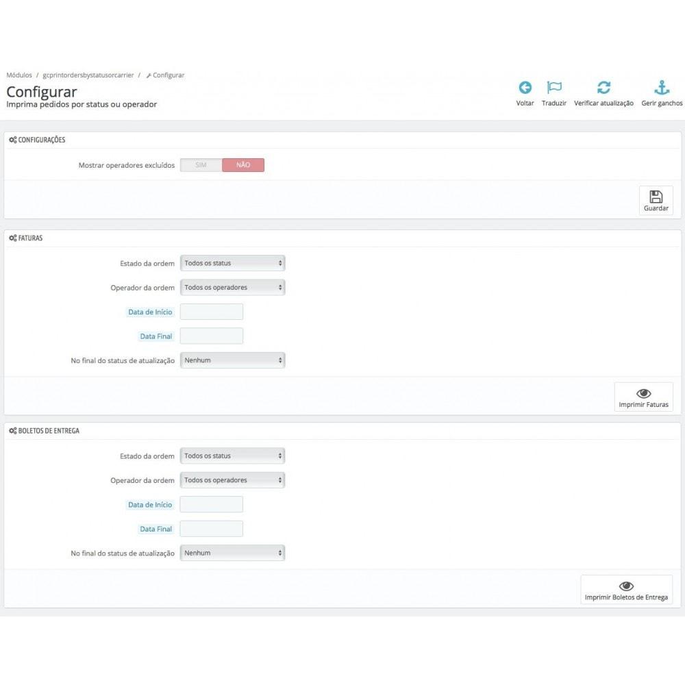 module - Preparação & Remessa - Imprima ordens por usuário e operador - 1