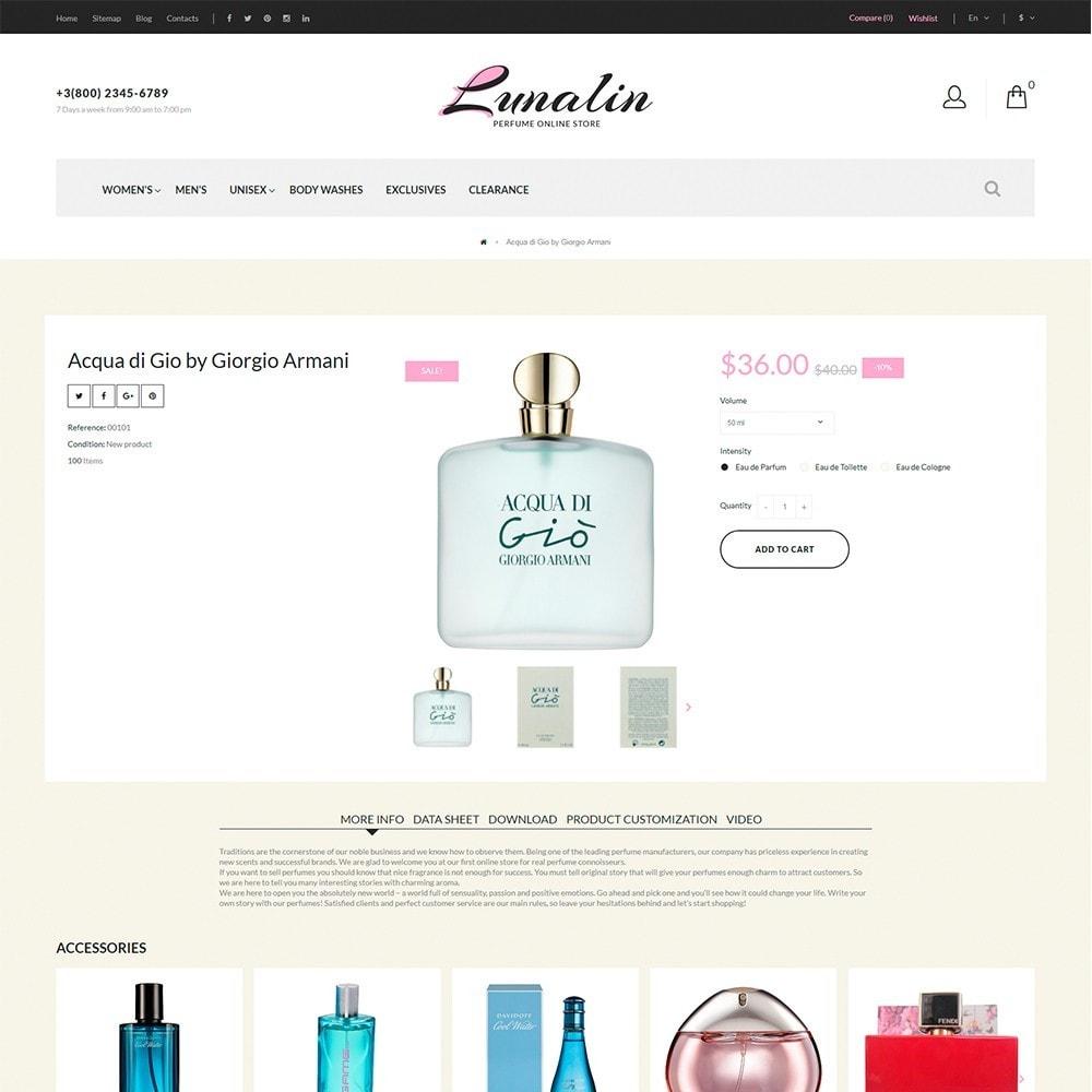 theme - Moda & Calzature - Lunalin - per Un Sito di Negozio Cosmetici - 5