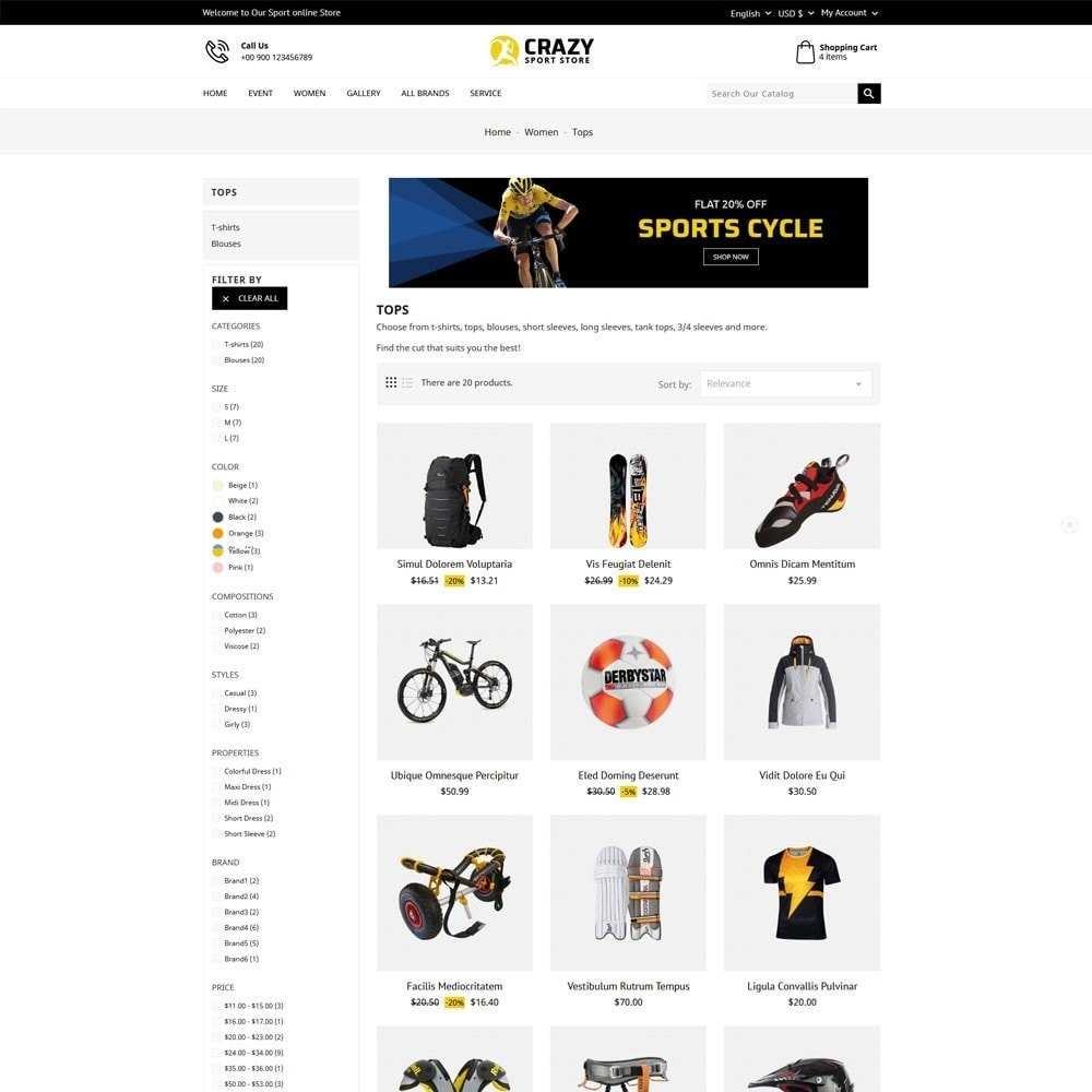 theme - Sport, Loisirs & Voyage - Crazy Sports Store - 4