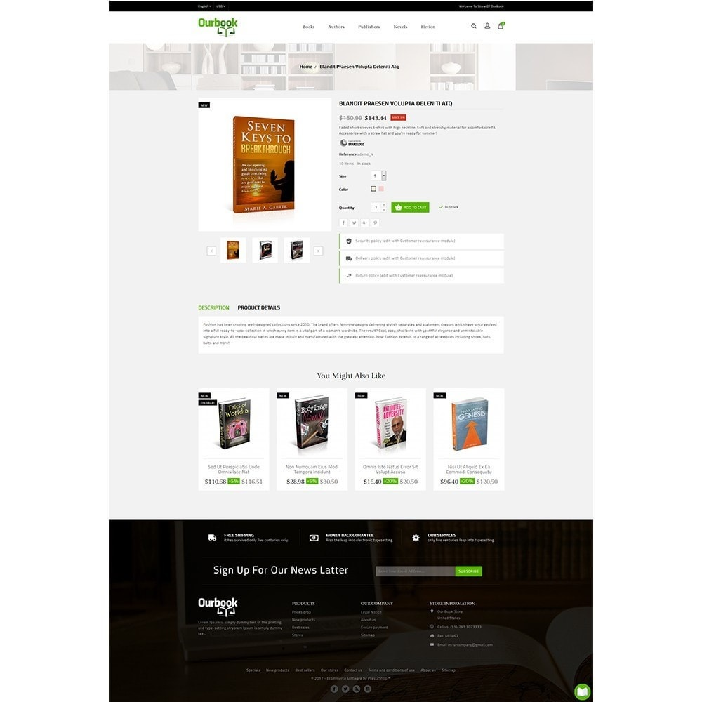 theme - Спорт и Путешествия - Our Book Store - 5
