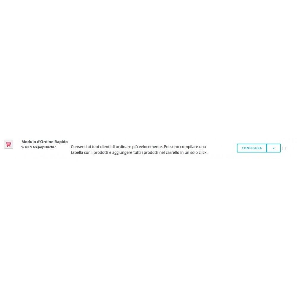 module - Moduli PrestaShop - Modulo d'ordine rapido - 5