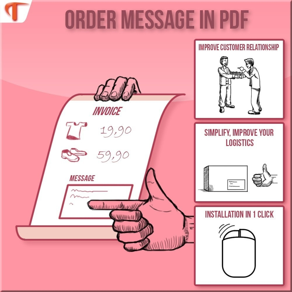 module - Boekhouding en fakturatie - Display Message(s) on  Invoice or/and Delivery Slip - 1