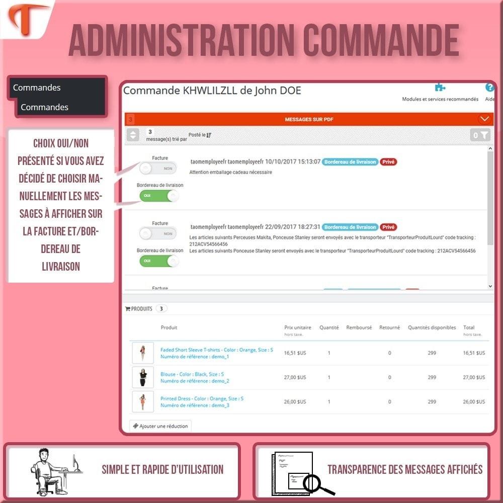 module - Comptabilité & Facturation - Order Message in PDF - Facture et/ou Bordereau - 3
