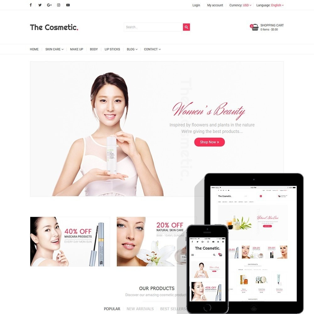 theme - Saúde & Beleza - The Cosmetics - Beauty, health and cosmetic store - 1
