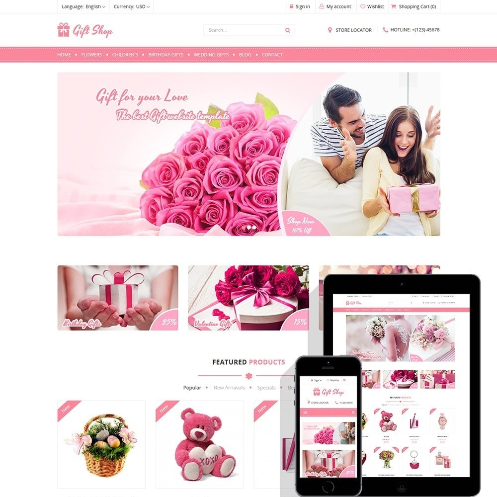 theme - Cadeaus, Bloemen & Gelegenheden - Gift Shop - For gift, flower, toy & accessories stores - 1