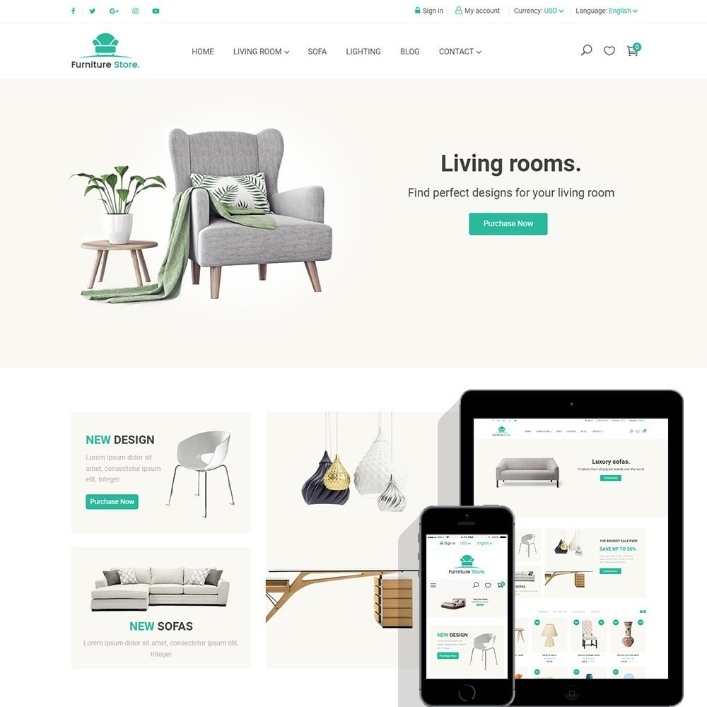 theme - Home & Garden - Furniture Store - 1
