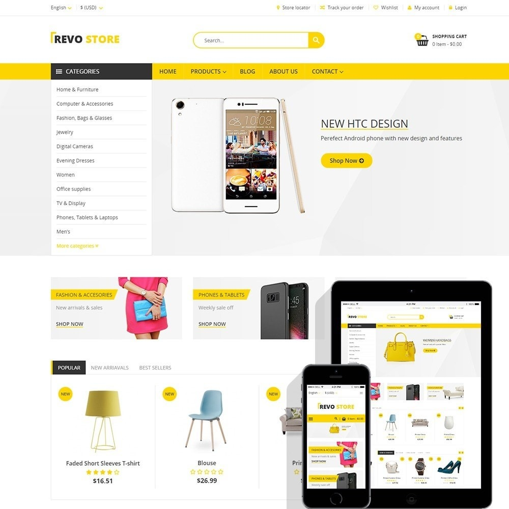 theme - Электроника и компьютеры - Revo Store - Fashion, digital and furniture - 1