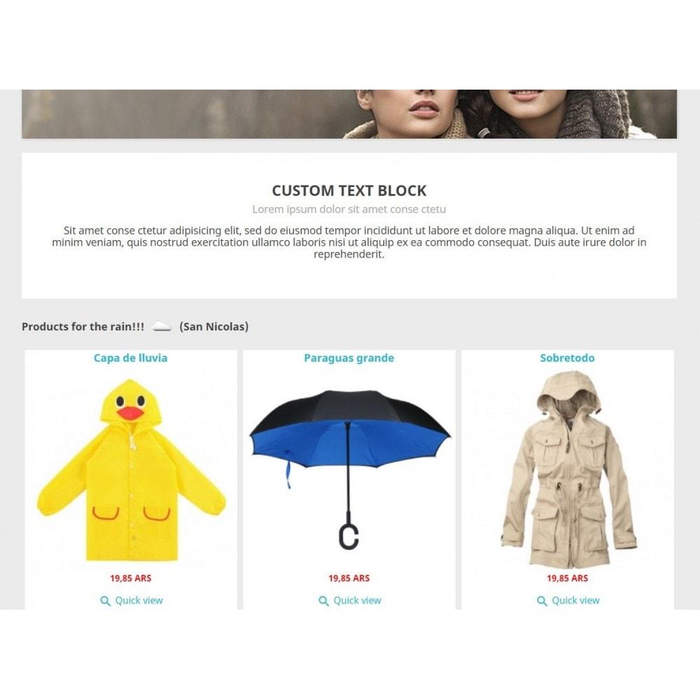 module - Personalización de la página - Products by weather - 2