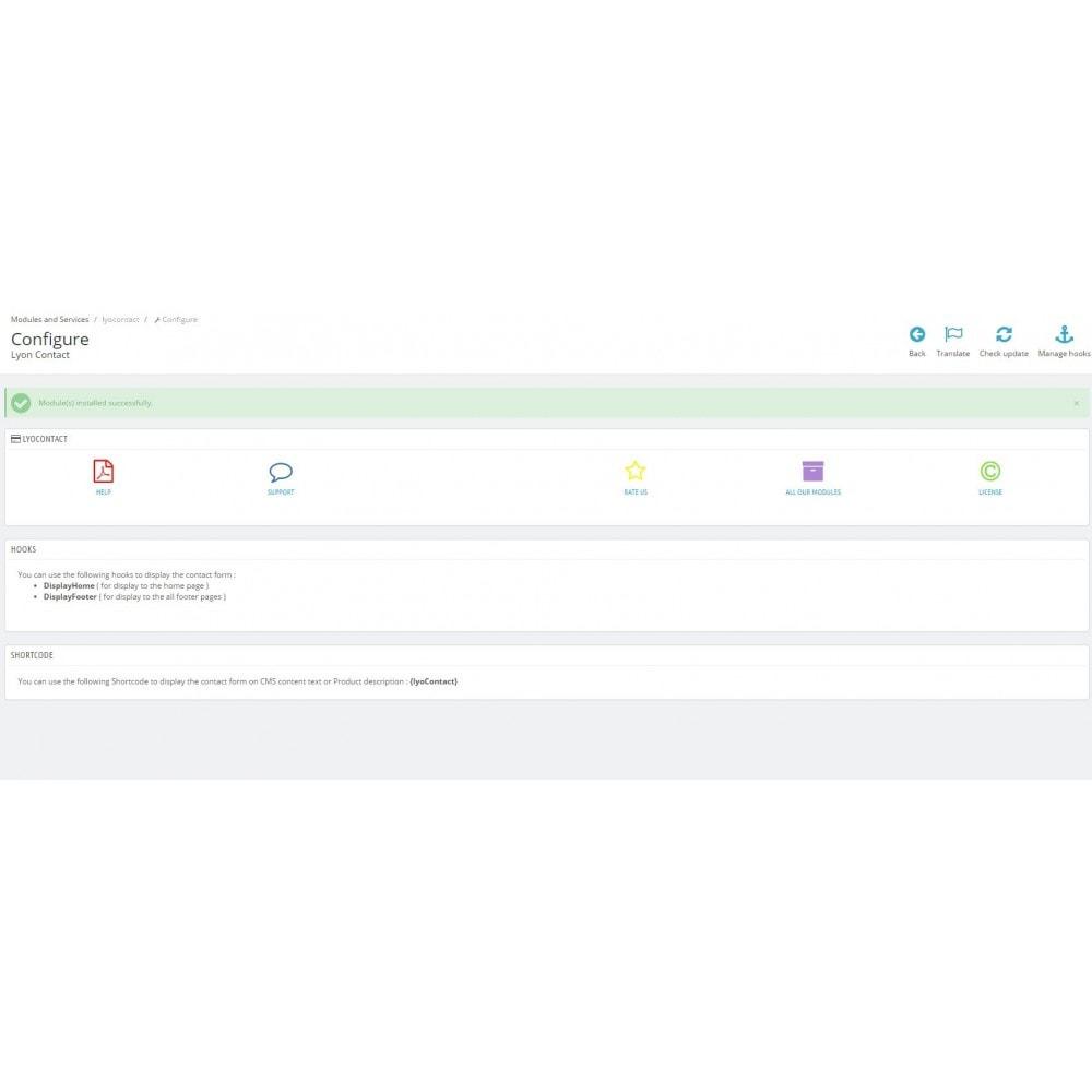 module - Personnalisation de Page - Module Afficher la rubrique contact où vous voulez - 8