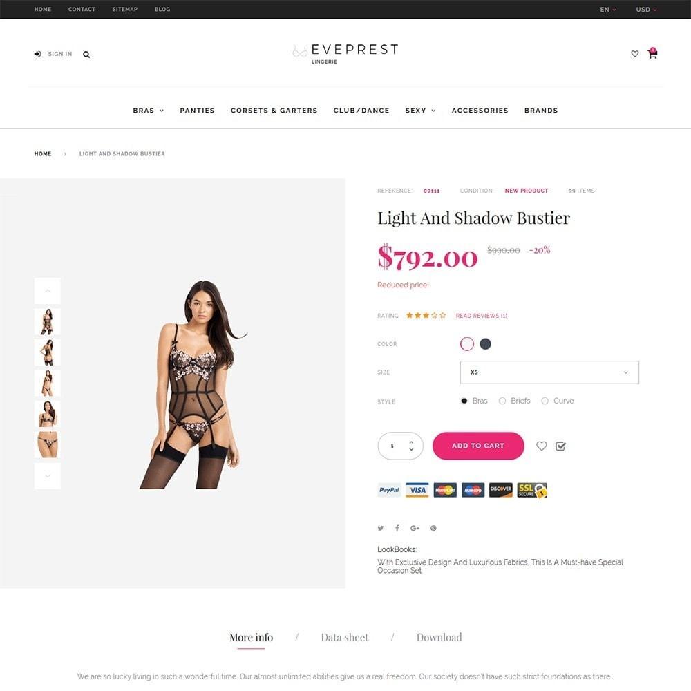 theme - Lingerie & Adult - EvePrest - Lingerie Store - 4