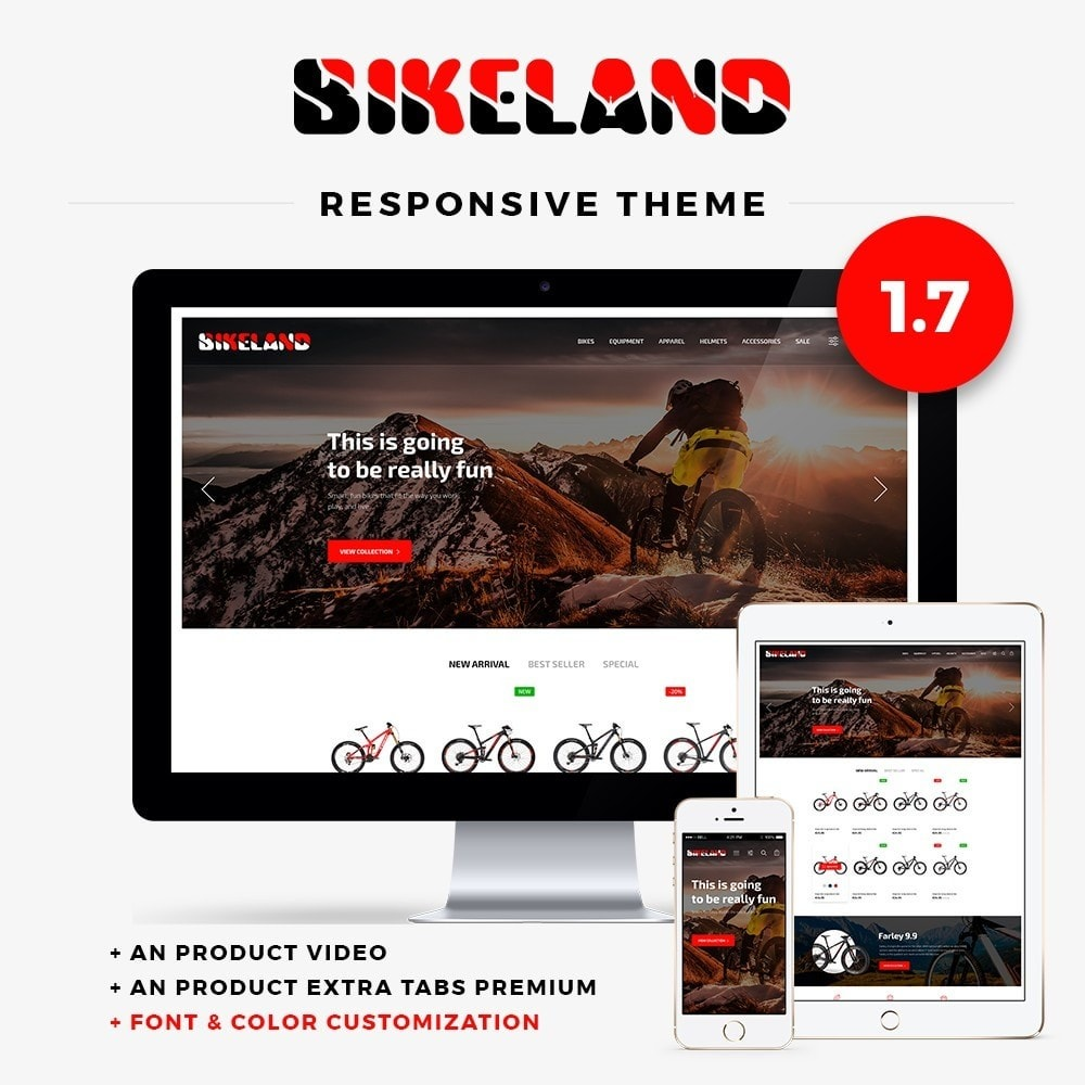 theme - Sports, Activities & Travel - Bikeland - 1