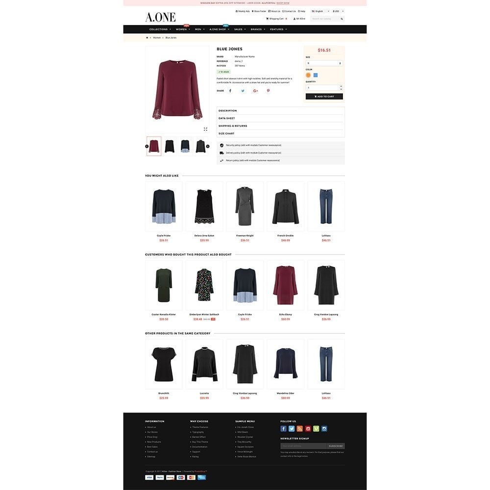 theme - Moda & Calzature - AOne - Fashion Store - 6
