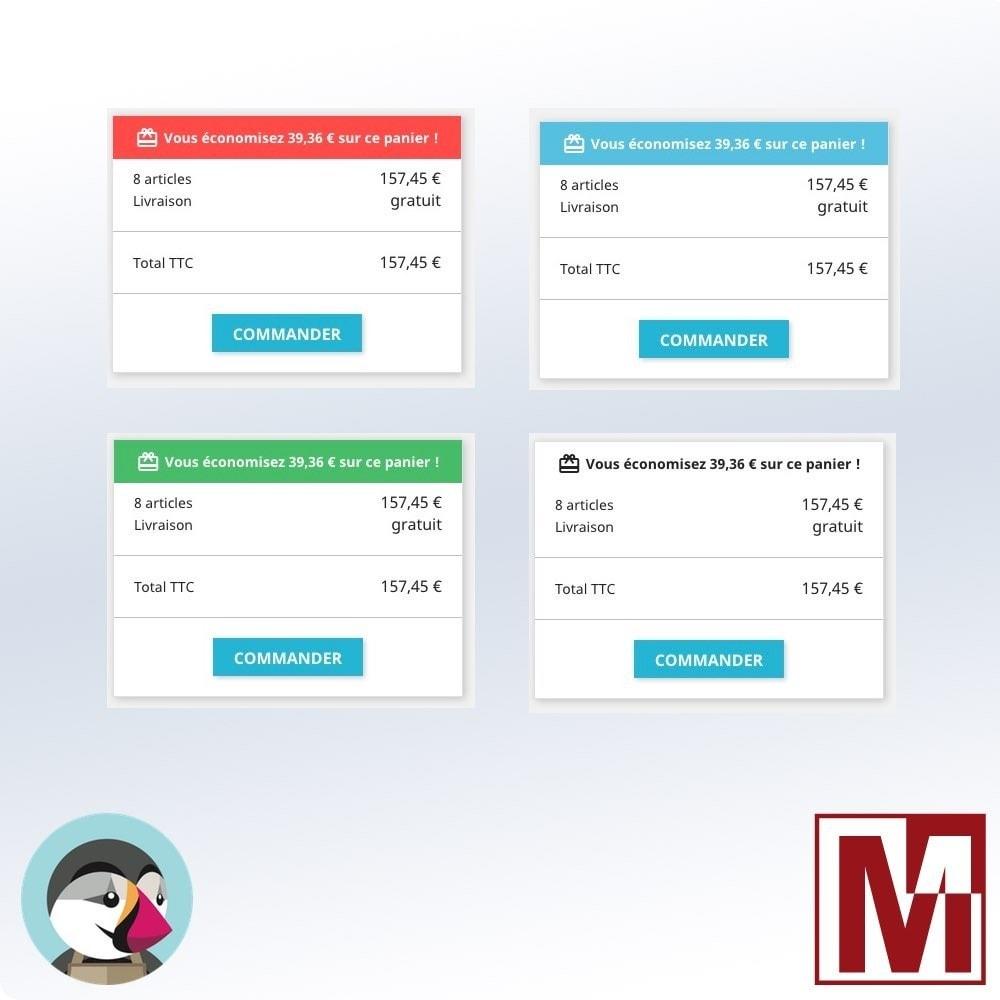 module - Inscription & Processus de commande - Total économisé sur le panier - 7