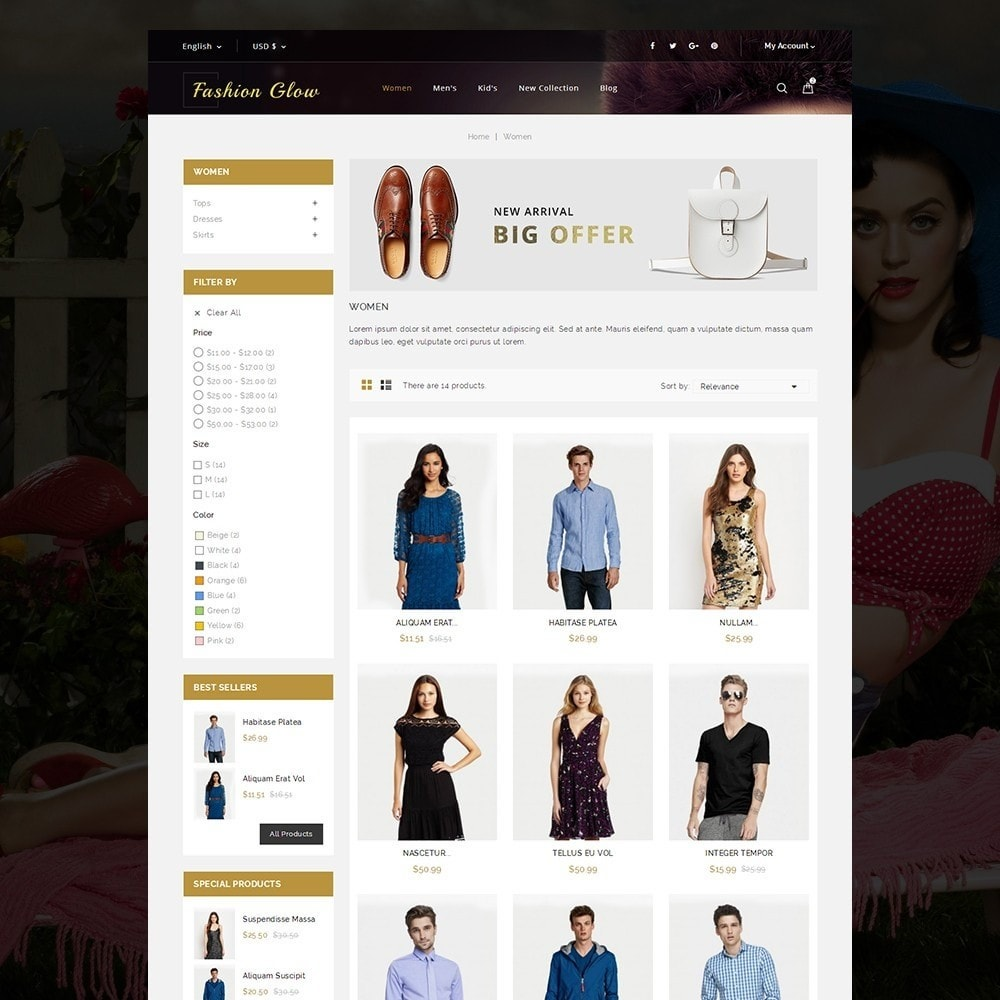 theme - Moda & Calzature - Fashion Glow Cloth Store - 3