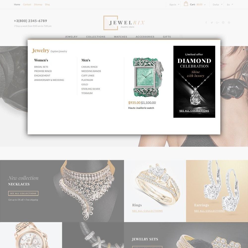 theme - Moda y Calzado - Jewelrix - para Sitio de Joyería - 5