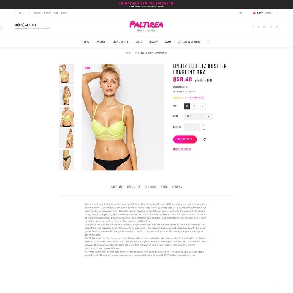 theme - Fashion & Shoes - Paltirea - Lingerie Template - 3