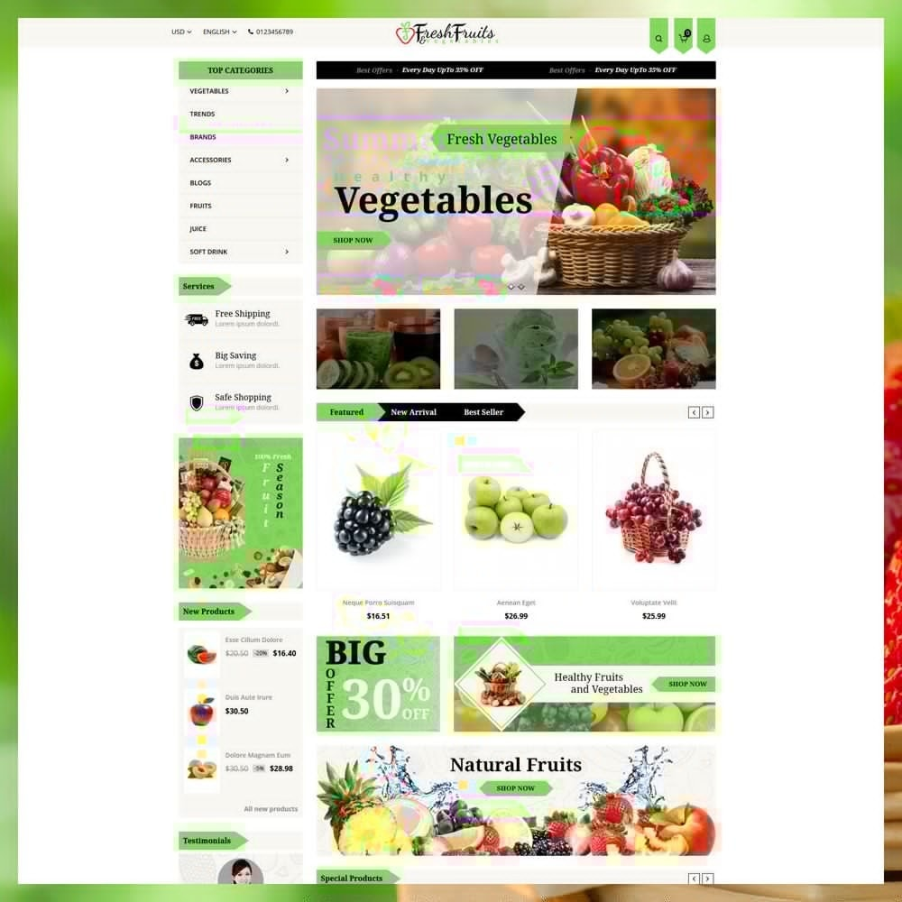theme - Продовольствие и рестораны - Fruits & Vegetables Shop - 2