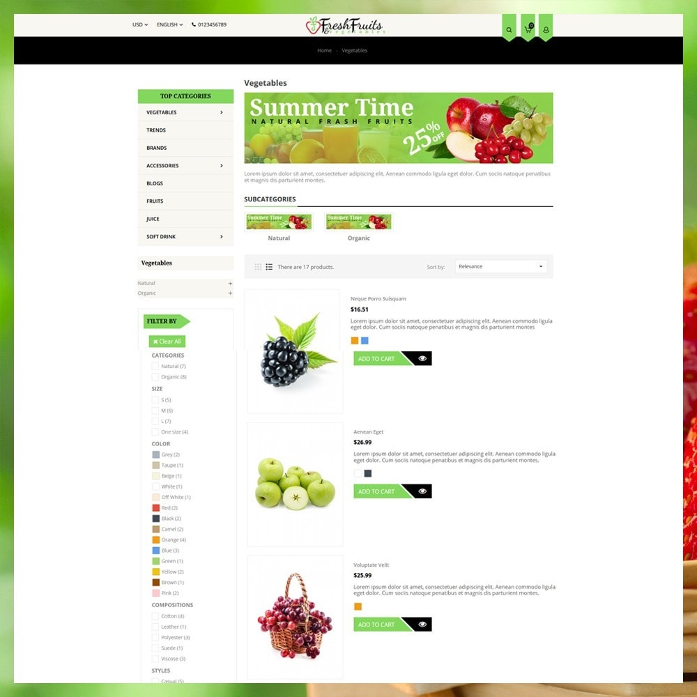 theme - Alimentation & Restauration - Fruits & Vegetables Shop - 5