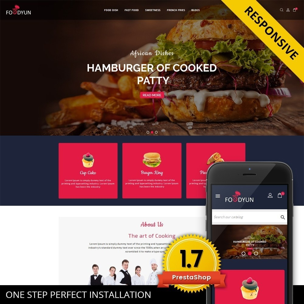 theme - Продовольствие и рестораны - Foodyun - The Food Store - 1