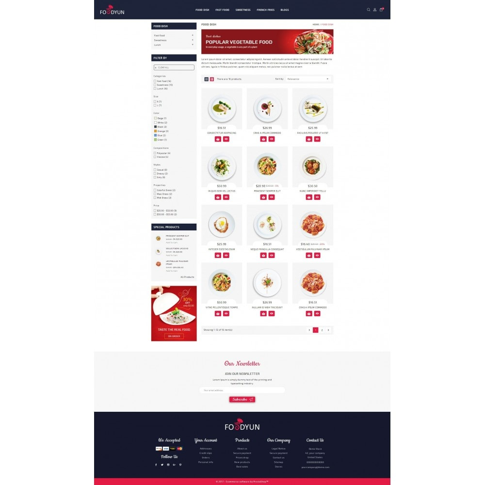 theme - Alimentos & Restaurantes - Foodyun - The Food Store - 3