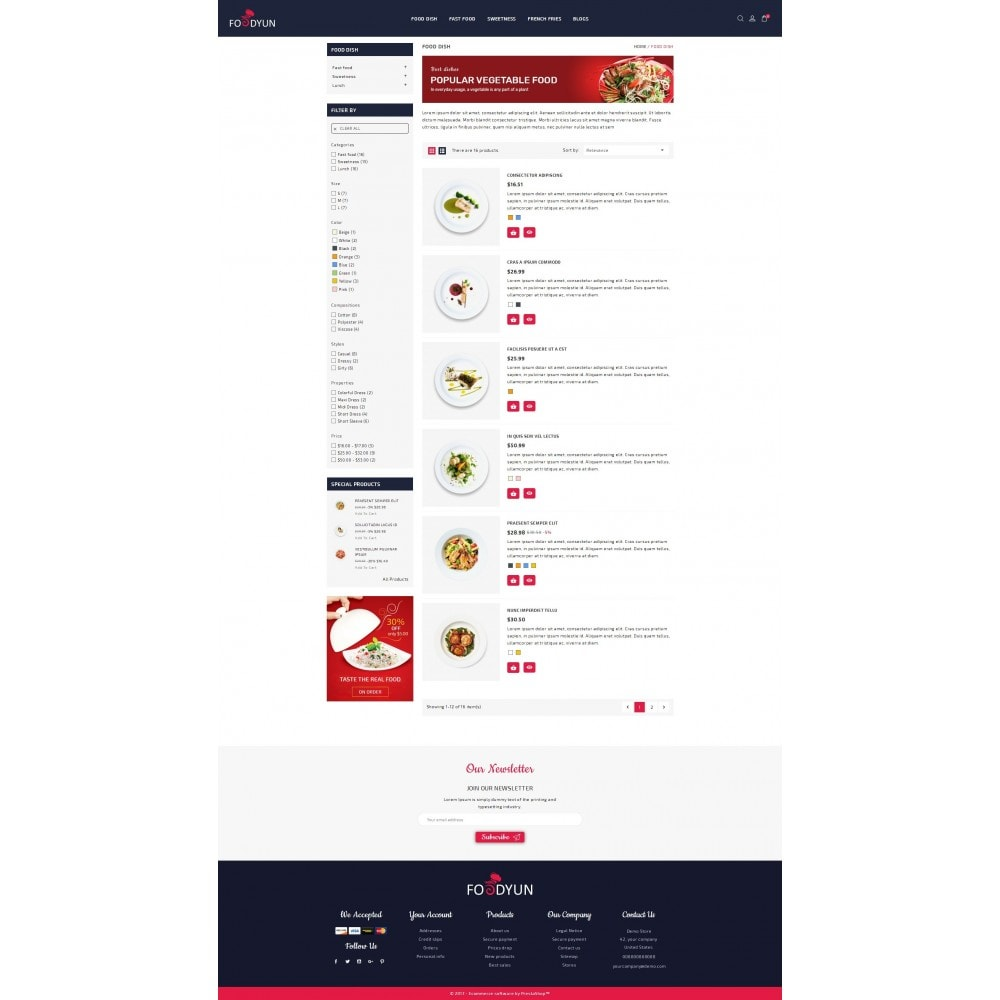 theme - Alimentos & Restaurantes - Foodyun - The Food Store - 4