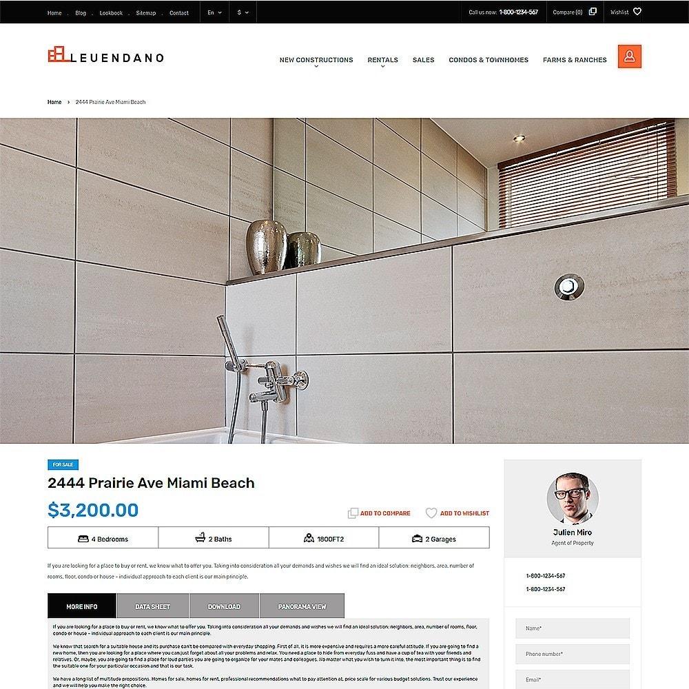 theme - Hogar y Jardín - Leuendano - para Sitio de Agencias inmobiliarias - 3
