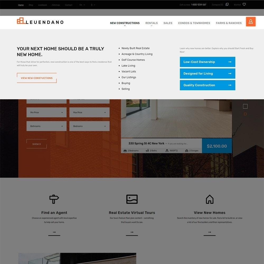 theme - Hogar y Jardín - Leuendano - para Sitio de Agencias inmobiliarias - 5