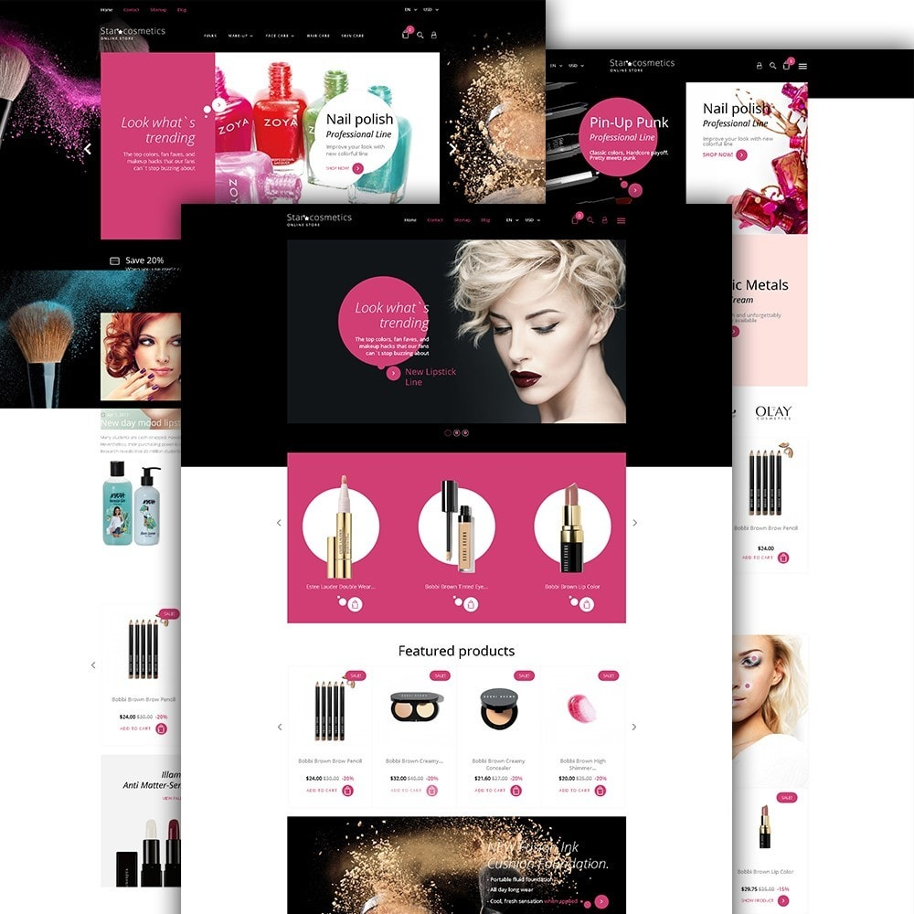 theme - Мода и обувь - Star Cosmetics - шаблон магазина косметики - 2