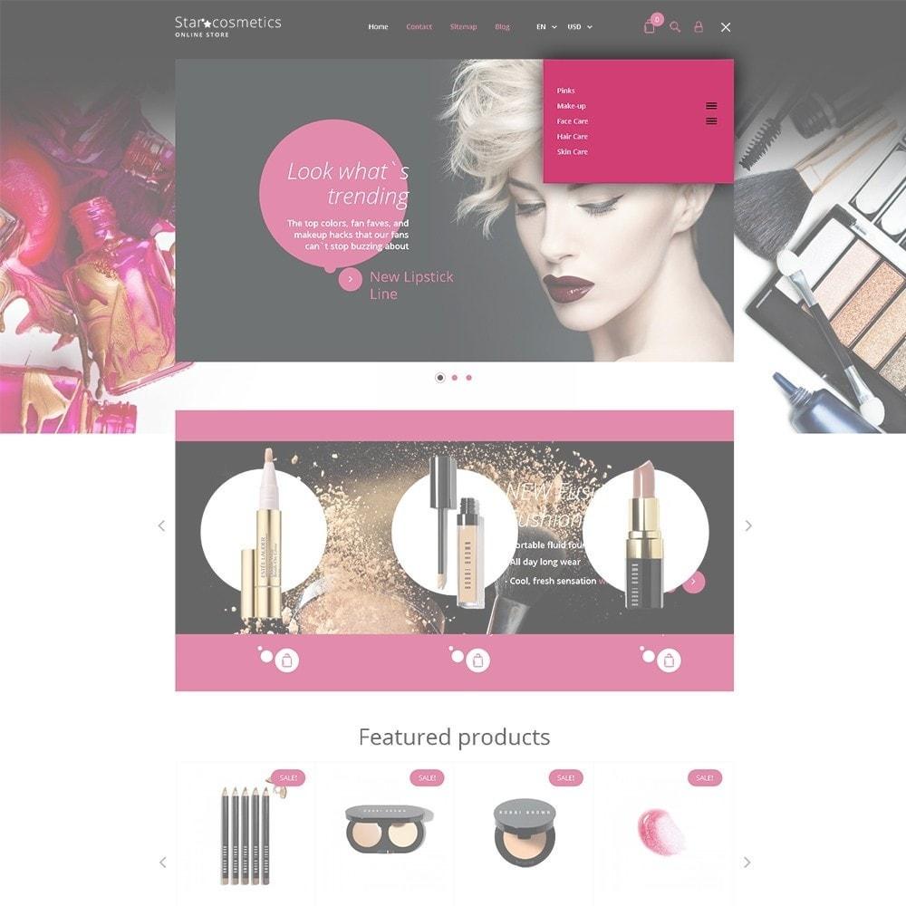 theme - Мода и обувь - Star Cosmetics - шаблон магазина косметики - 3