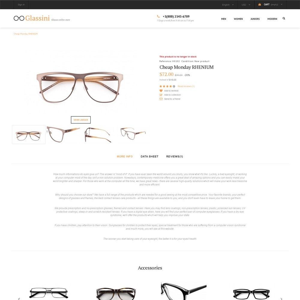 theme - Moda y Calzado - Glassini - para Sitio de Gafas - 4