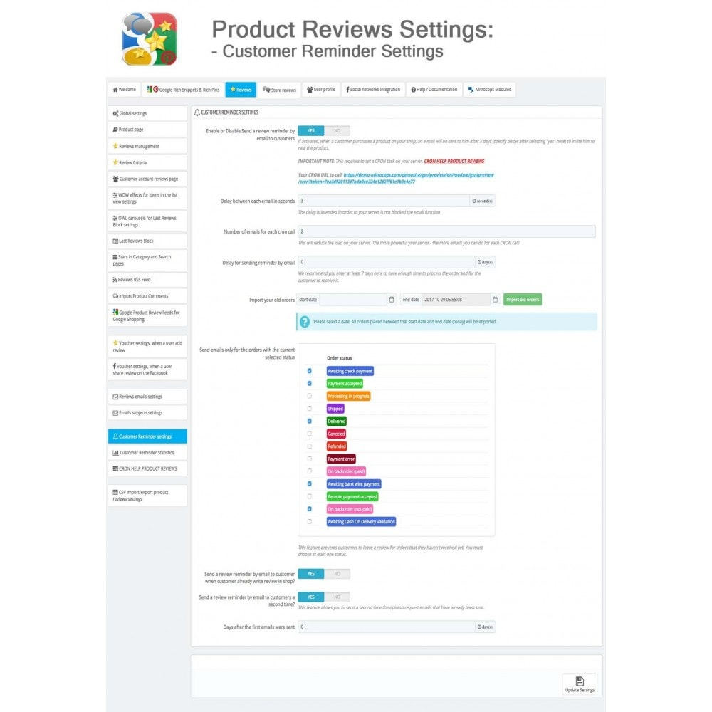 module - SEO - Product, Shop Reviews, Reminder, Profile, Rich Snippets - 39