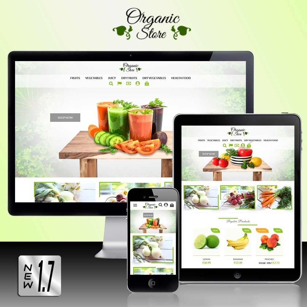 theme - Food & Restaurant - Organic Store - 1