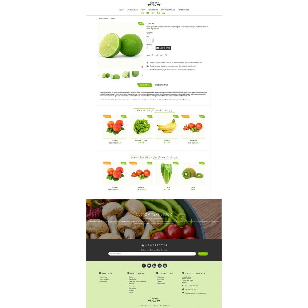 theme - Food & Restaurant - Organic Store - 3