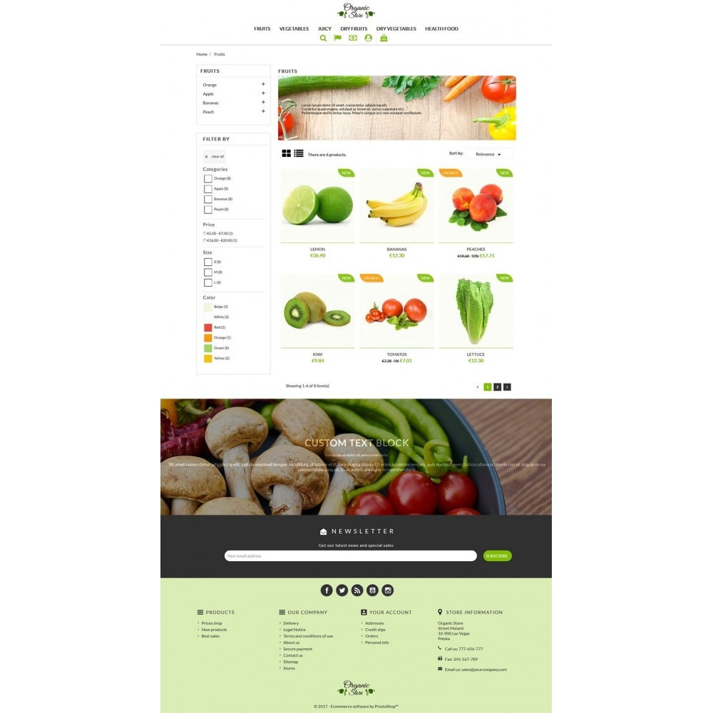 theme - Food & Restaurant - Organic Store - 4
