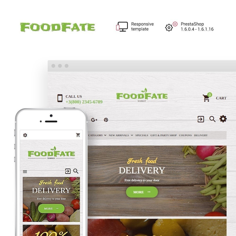 theme - Lebensmittel & Restaurants - FoodFate - Supermarket - 1