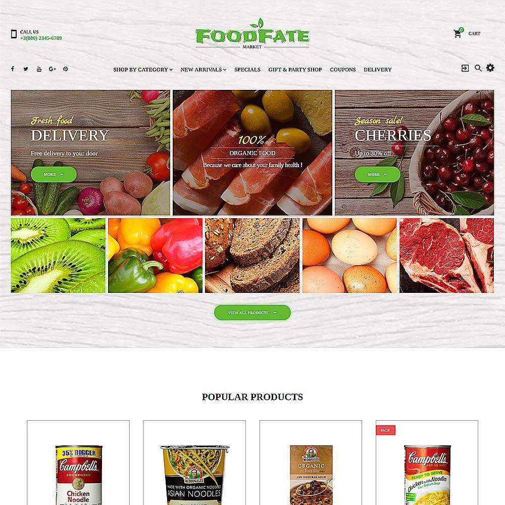 theme - Food & Restaurant - FoodFate - Supermarket - 2