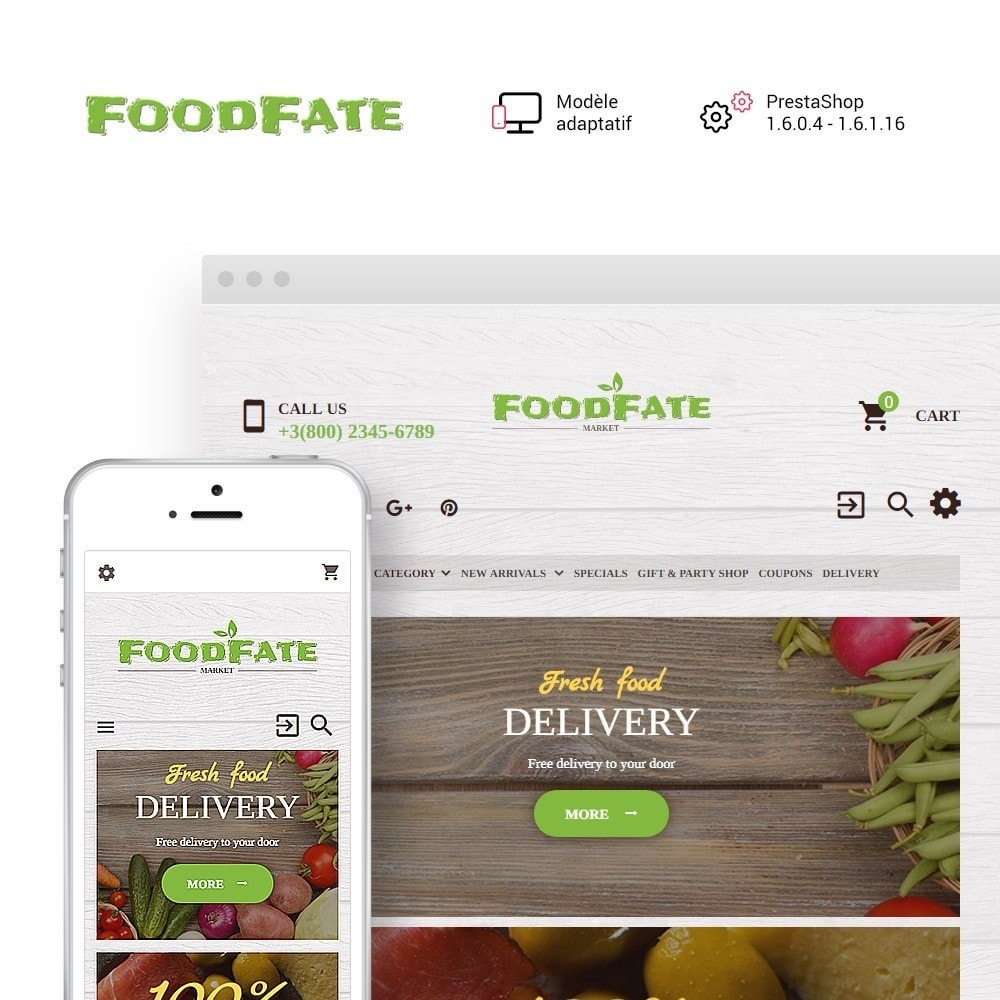 theme - Alimentation & Restauration - FoodFate - Supermarché - 1