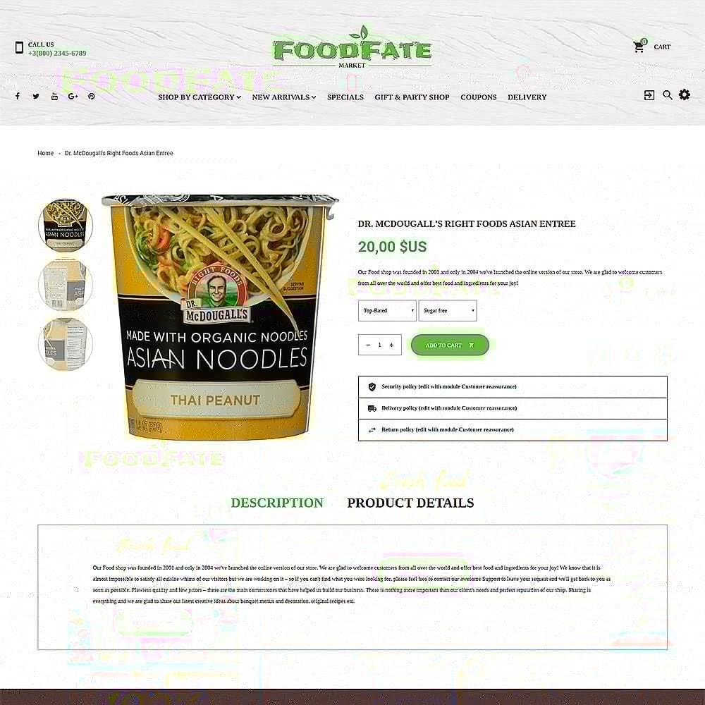 theme - Продовольствие и рестораны - FoodFate - шаблон магазинa еды - 3